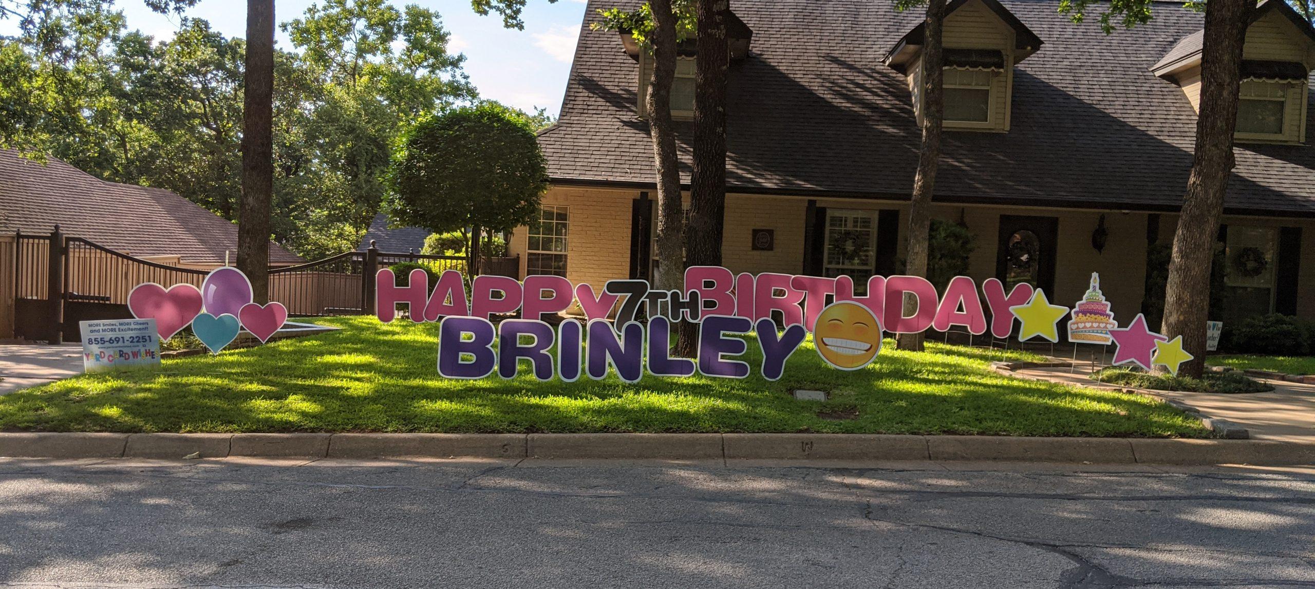 birthday yard card greeting