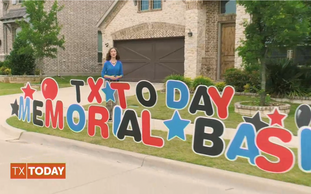 Yard Card Wishes Featured on Texas Today!